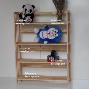 Kệ sách gỗ 4 tầng rộng 80 cm